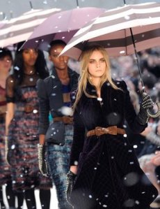 Burberry catwalk @ LFW 2012